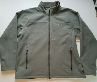 86248ef19ade3 LL Bean Soft Shell Pathfinder Insulated Fleece Jacket Size XXL Heather Gray  WARM