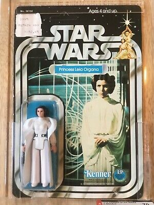 Star Wars Kenner 12 Back Princess Leia Organa AFA 70 graded