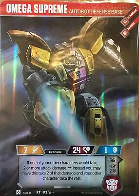 Omega Supreme Card Transformers Trading Card Game TCGLootcrate SEALED Wizards