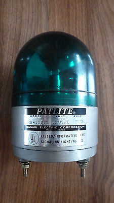 PATLITE RH-120UL *NICE WORKING CONDITION* Revolving Beacon Flasher, NEEDS BULB