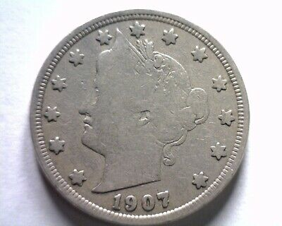 1907 Liberty Nickel Fine F Nice Original Coin From Bobs Coin Fast Shipment
