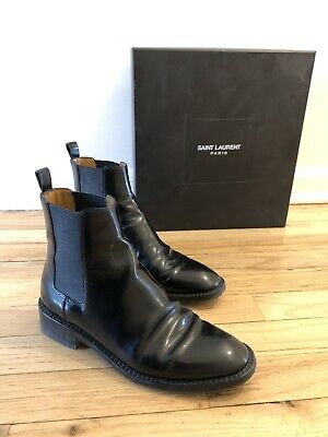 92533137015 YVES SAINT LAURENT Black Patent leather Boots, new price £1200 ...