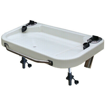 O/S Heavy Duty Extra Lge Bait Board - Integrated Sink S/S Rod Holders and Handle