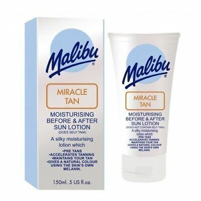 Malibu Miracle Tan Before and After Sun Lotion Moisturising  Tanning 150 ml