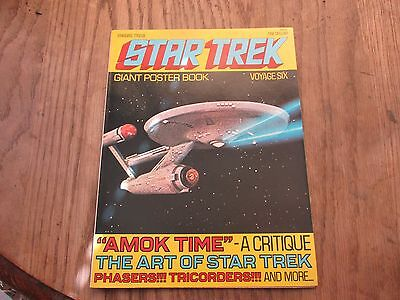 Vintage Star Trek Giant Poster Book Voyage Six 6 1977