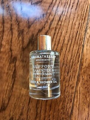 2 X Aromatherapy Associates Support Lavender & Peppermint Bath & Shower Oil