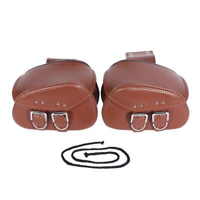 Motorcycle PU Side Saddle Bags For Honda Shadow ACE Sabre Spirit VLX600 750 1100
