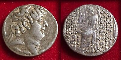 Ancient Greek Seleucid Kingdom Philip I Tetradrachm 94-75 Bc Zeus Nice Coin