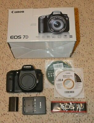 Canon EOS 7D 18.0MP Digital SLR Camera - Black (body, battery, charger)