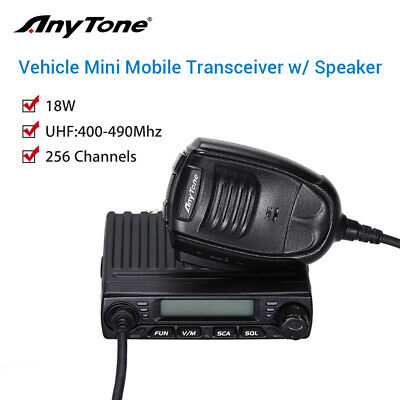 AT-779 LCD 256 Channels Mini Vehicle Mobile Radio Amateur Two Way Walkie Talkie
