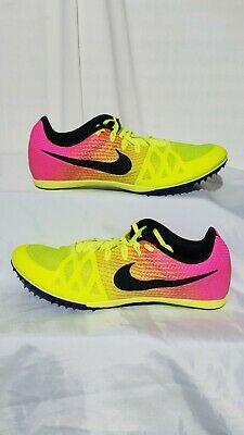 026a9e317a89  NEW  NIKE ZOOM RIVAL MD8 Mens Volt Pink Black Racing Track Cleats Size 12