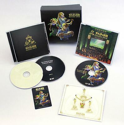 The Legend of Zelda Concert 2018 First Limited Edition 2 CD Blu-ray Japan