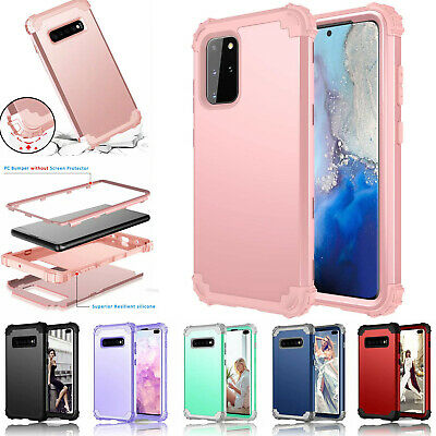 Samsung Galaxy S10 & S10 Plus Rubber Shock proof Heavy Duty Hard Back Case Cover
