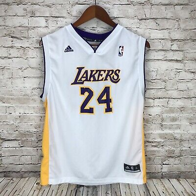 half off c8d54 411d5 LOS ANGELES LAKERS Kobe Bryant #8 adidas Youth XL NBA White Jersey