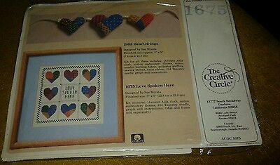 The Creative Circle 1675 Love Spoken Here Counted Cross Stitch KIT New