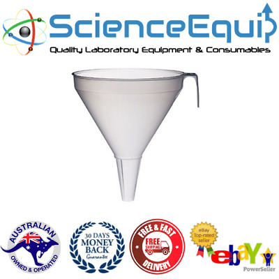 Industrial Filter Funnel, Polypropylene, Chemistry Laboratory Science Equip OZ