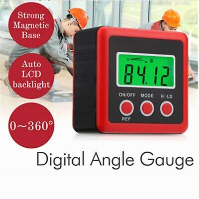 Digital Inclinometer Bevel Level Box Protractor Slope Angle Finder Gauge Meter