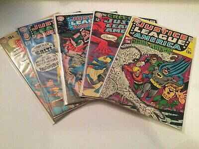 Justice League Of America 68 70 71 72 73 Lot Very Good-Fine DC Silver Age A1