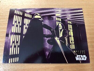 2018 Star Wars A New Hope Black & White Purple Parallel Card #109-01/25