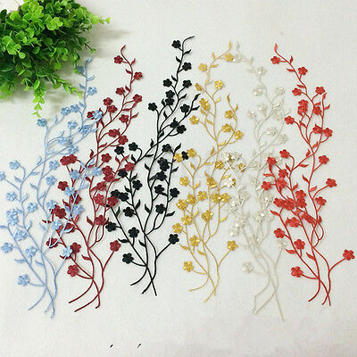 Embroidery Floral Lace Applique Patch Motifs Sewing Iron On Badge Decor Crafts
