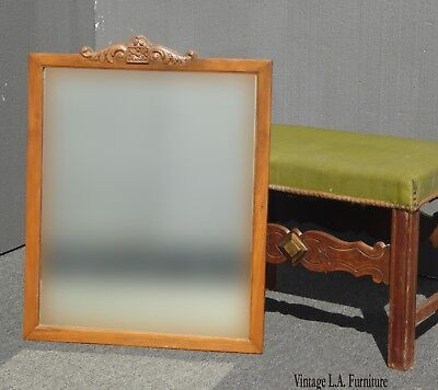 Antique French Country Wall Mantle Mirror w Aged Mirror