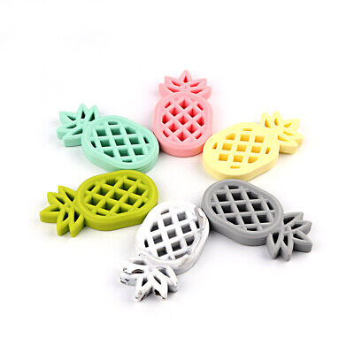 Infants Baby Teether Soft Silicone Pacifier Pendant Chewable Pineapple Toy