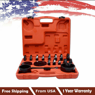 HOT! 23 pcs FWD Front Wheel Bearing Press Tool Removal Adapter Puller Pulley Kit