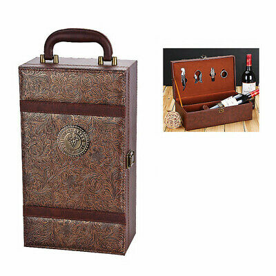 Wine Bottle Box Leather Luxury Bag Red Wine Champagne Tote Carrier Gift Case