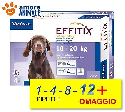 EFFITIX per cani da 10-20 kg - 1 / 4 / 8 / 12 pipette Antiparassitario Spot-On
