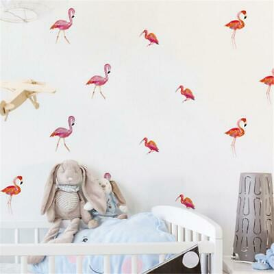 6 Sheets Flamingo Bird Animal Living Room Nature Cool Wall Art Stickers T