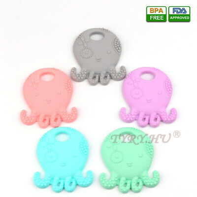 Octopus Infant Baby Teether Food Grade Silicone Soother Teething Chewable Toy