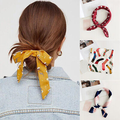 Girl Hair Band Silk Head-Neck Tie Headband Bandana Hair Rope Women Square Scarf