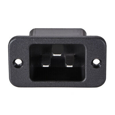 Panel Mount Plug Adapter AC 250V 16A C20 3 Pins IEC Inlet Module Plug Staight