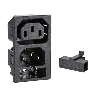 Panel Mount Plug Adapter AC 250V 10A C13 C14 3 Pin IEC Inlet Module Plug
