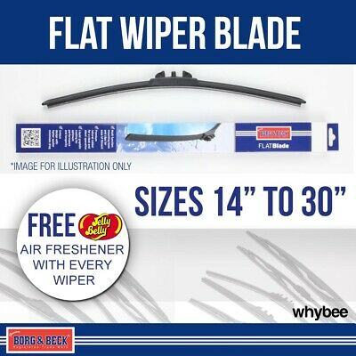 "Borg & Beck Aerotwin Style Flat Front Wiper Blades Multi-Clip Sizes 15"" to 30"""