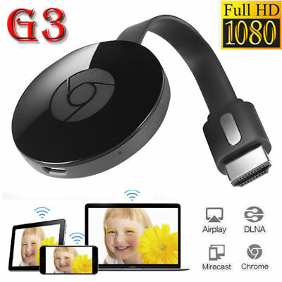 Miracast Chrome 3rd Generation 3 HDMI 1080P Media Video Streamer For Google