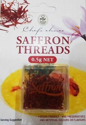 100% Pure Saffron Threads Premium Quality 0.5g, Chef's Choice