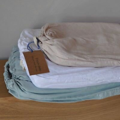 ON SALE 100% Pure French Flax Linen Bedding Flat Fitted Bed Sheets