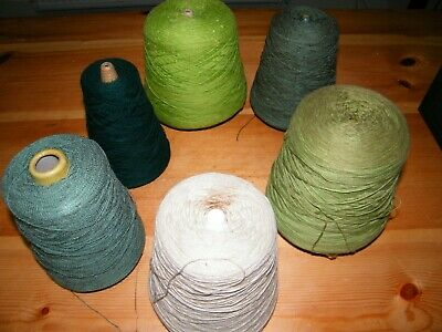 Cones of Knitting Yarn