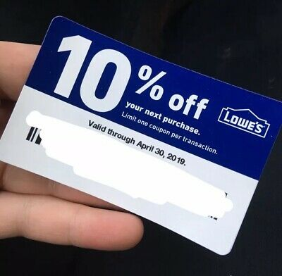 10% off Lowes Coupon Expires 4/30/19