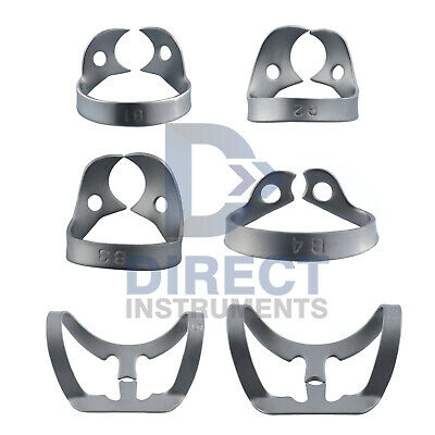 6PCs Set Dental Clamps Hygienic Brinker Rubber Dam Tissue Molar Tissue Retractor