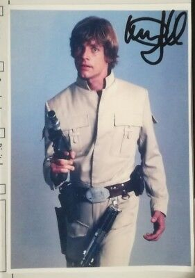 Autograph autogramme signed MARK HAMILL (STAR WARS)