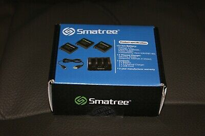 Smatree Replacement Battery (3-Pack) with 3-Channel Charger for GoPro Hero