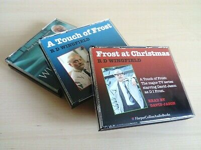 3 x Frost CD Audio Book Bundle Lot by R. D. Wingfield read by David Jason