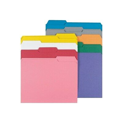 Staples Colored File Folders w/ Reinforced Tabs Letter 3 Tab 100/Box 508994