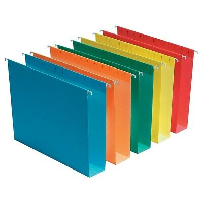 """Staples Hanging File Folders Box Bottom 2"""" Expansion Legal Size Assorted 25/BX"""