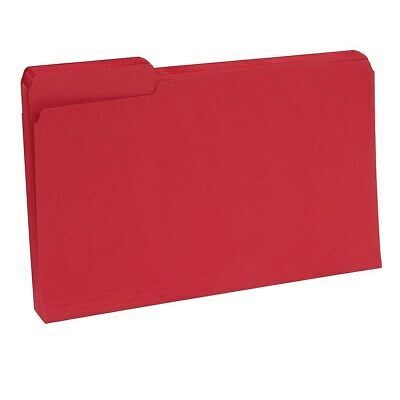 Staples Colored Top-Tab File Folders 3 Tab Red Legal Size 100/Pack 224550