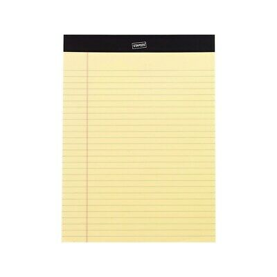 "Staples Perf. Note Pads Wide/Letter Ruled Yellow 8-1/2"" x 11-3/4"" 12/PK 163840"