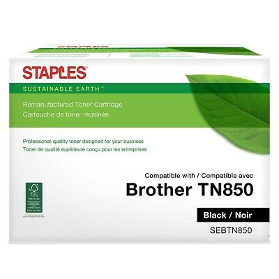 Sustainable Earth Brother TN 850 Remanufactured Black Toner Cartridge High Yield