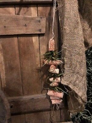 Primitive Dried Peppers & Corn Cobs Peg Hanger Early Look Homestead FALL Harvest